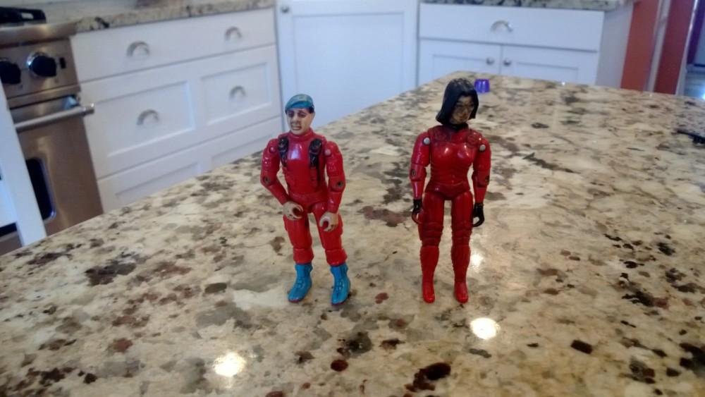 GI Joe Funskool Holy Grails: Red Stalker & Red Baroness!!!! (1/4)
